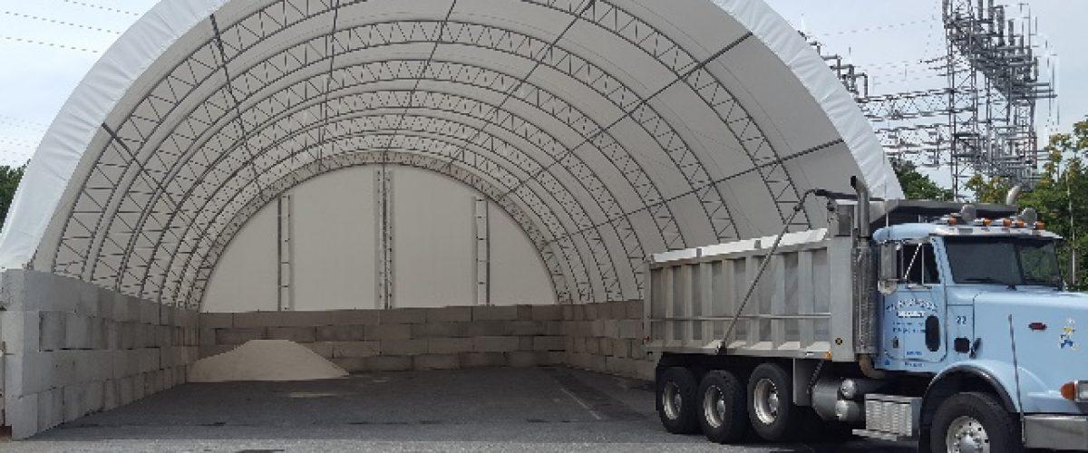 1,500 ton capacity salt pit