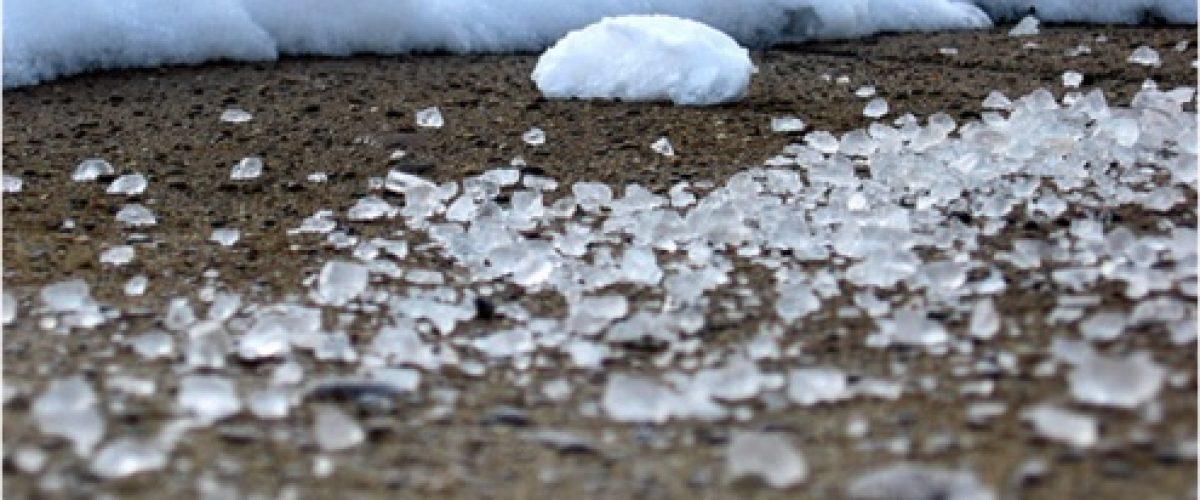 ice next to snow