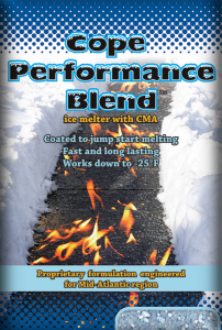 blended ice melt - cope performance blend bag