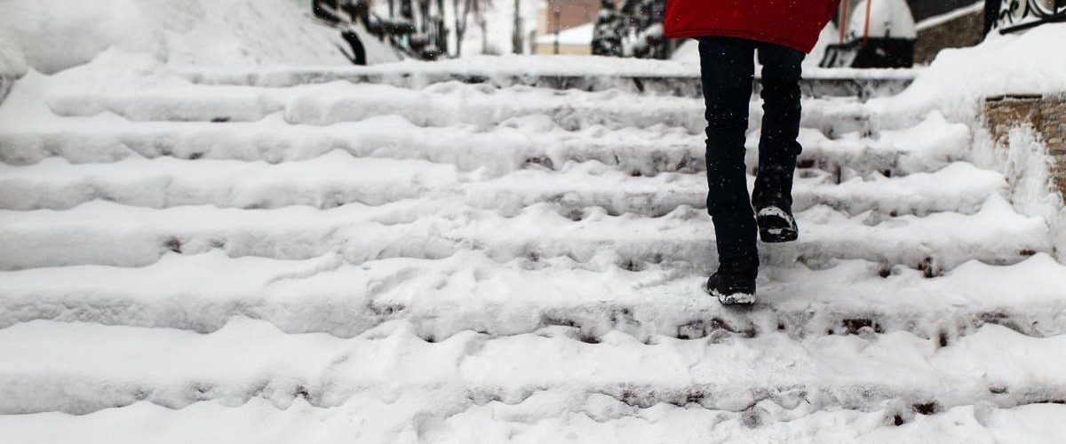 winter weather hazards - icy steps